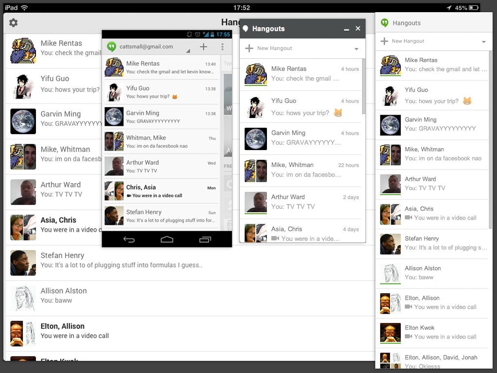 Google hangouts client for windows phone 8 - The Hangouts App Shows Who S Online On The Web And Chrome Apps But Not On